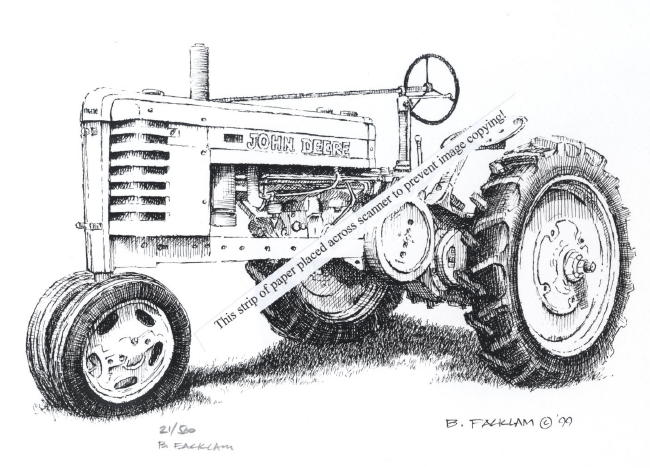 Line Drawing Tractor : Pin drawn tractor john deere earthy