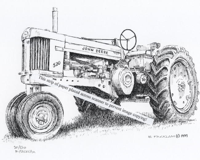 Line Drawing Tractor : John deere tractor drawing pixshark images