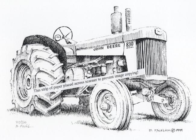 Farm Tractors Drawings