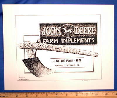 John Deere First Plow Where It All Started Signed Print