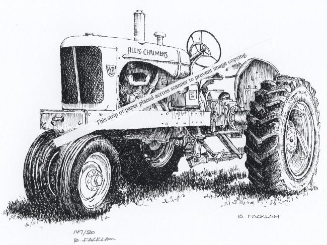 Allis Chalmers Tractor Clip Art : Allis chalmers wd farm tractor signed print