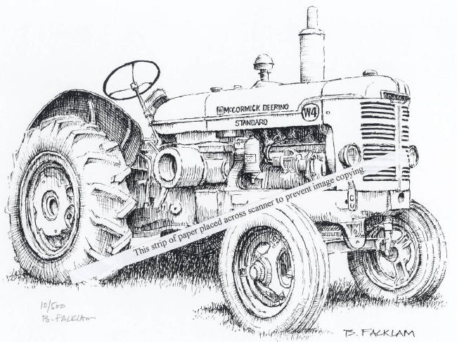 tractor coloring pages farmall b - photo#3