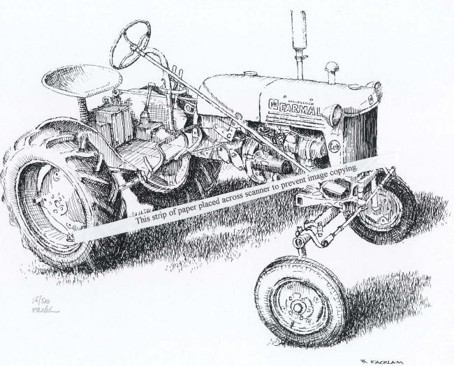 Line Drawing Tractor : Farmall cub line drawing