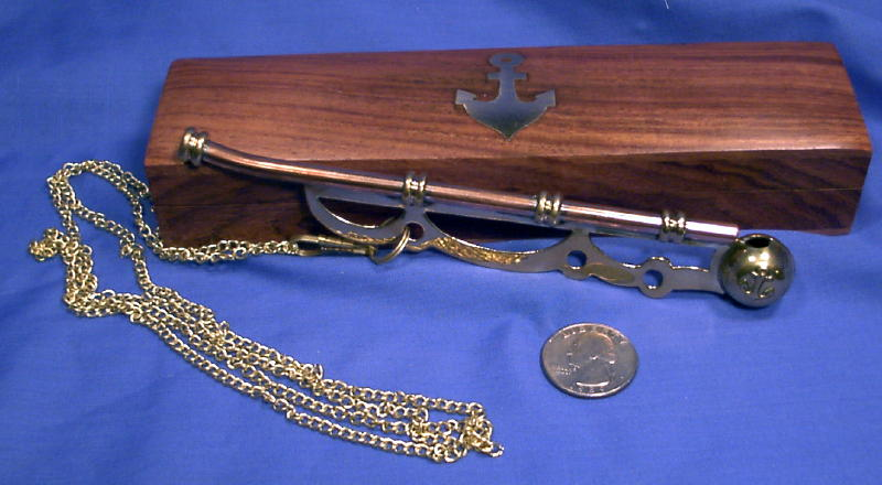 Bosun/'s pipe Boatswain/'s Whistle Copper /& Brass