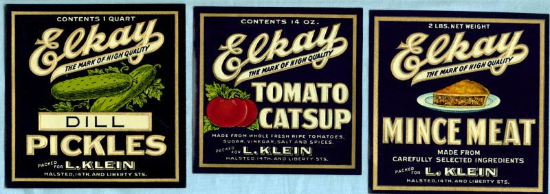 1930 S Vintage Jar Bottle Labels Gold Gilded Ink Embossed
