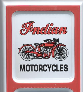 Indian Scout Motorcycle Old Tin Advertising Thermometer