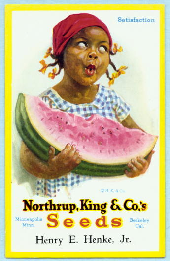 See Photo of Reverse Side at Bottom of this PageWatermelon Cartoon Characters