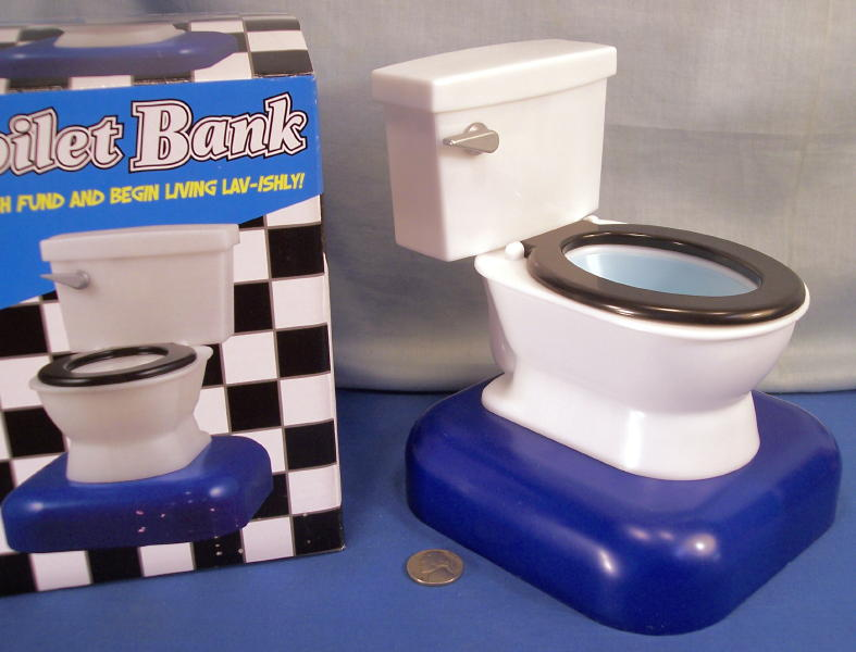 Toy Toilet Flushing Sound : Coin commode toilet bank flushing sound when is inserted