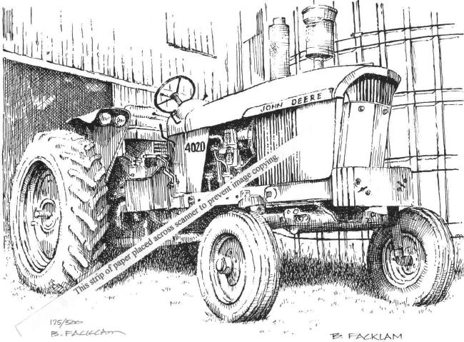 antique tractor drawings