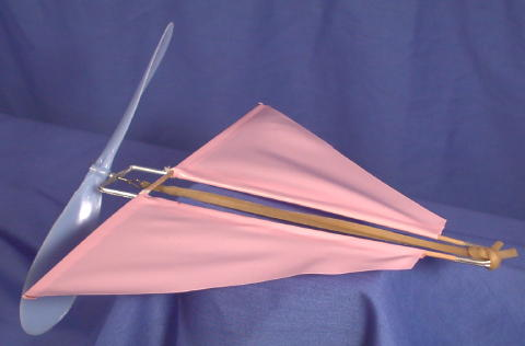 Old Toy Glider Airplane Rubber Band Prop Powered In 1950 S