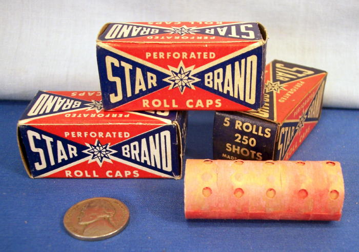 Toys For Caps : Star brand repeating perforated roll caps box