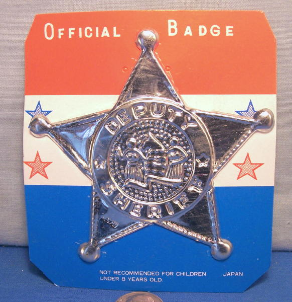 Image result for deputy badge from the 1950s toy