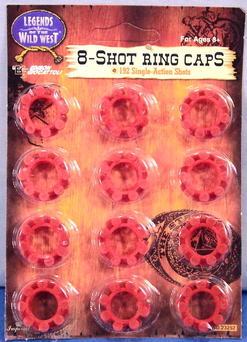Cap Gun 8 Shot Plastic Ring Caps