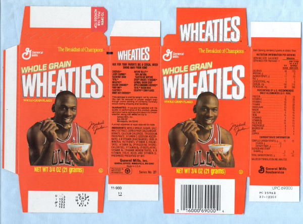 michael jordan wheaties